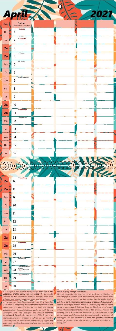 EHBO kalender 2021